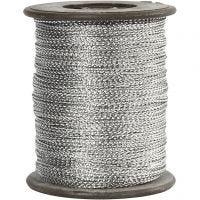Koord, dikte 0,5 mm, zilver, 100 m/ 1 rol