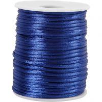 Satijnkoord, dikte 2 mm, donkerblauw, 50 m/ 1 rol
