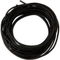 Leerkoord, dikte 2 mm, zwart, 4 m/ 1 rol