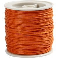 Katoenkoord, dikte 1 mm, oranje, 40 m/ 1 rol