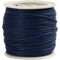 Katoenkoord, dikte 1 mm, blauw, 40 m/ 1 rol