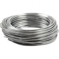 Alu draad, rond, dikte 3 mm, zilver, 29 m/ 1 rol