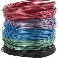 Alu draad, dikte 1,5 mm, diverse kleuren, 5x20 m/ 1 doos