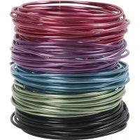 Alu draad, dikte 3 mm, diverse kleuren, 5x5 m/ 1 doos
