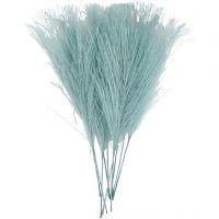 Kunstveren, L: 15 cm, B: 8 cm, turquoise, 10 stuk/ 1 doos