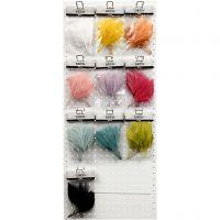 Kunstveren, L: 15 cm, B: 8 cm, diverse kleuren, 10x10 doos/ 1 doos