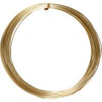 Alu draad, rond, dikte 1 mm, goud, 16 m/ 1 rol
