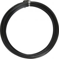 Alu draad, rond, dikte 2 mm, zwart, 10 m/ 1 rol