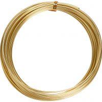 Alu draad, rond, dikte 2 mm, goud, 10 m/ 1 rol