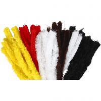Chenilledraad, L: 40 cm, dikte 30 mm, diverse kleuren, 48 stuk/ 1 doos