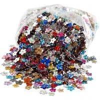 Strasstenen, d: 6+10+12 mm, diverse kleuren, 2520 stuk/ 1 doos