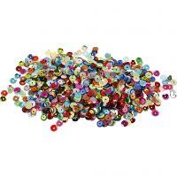 Pailletten, rond, d: 6 mm, 100 gr/ 1 doos