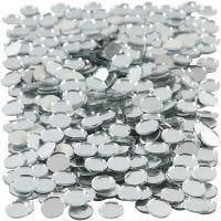 Spiegel mozaiek tegels, ronde, d: 10 mm, 500 stuk/ 1 doos
