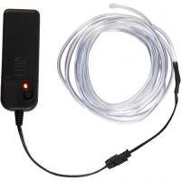 LED Lichtslinger, L: 3 m, neon blauw, wit, 1 stuk
