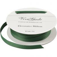 Decoratie lint, B: 6 mm, groen, 15 m/ 1 rol