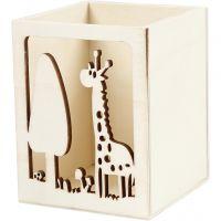 Pennenbakje, giraf, H: 10 cm, L: 8 cm, 1 stuk