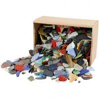 Mozaiek, afm 15-60 mm, diverse kleuren, 2 kg/ 1 doos