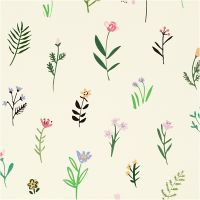 Inpakpapier, flora, B: 35 cm, 100 m/ 1 rol