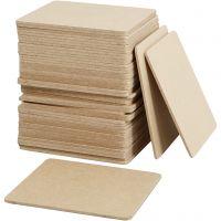 Onderzetters, afm 10x10x0,3 cm, 50 stuk/ 1 doos