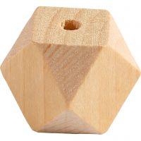 Diamantvormige kralen, B: 20 mm, gatgrootte 3 mm, 6 stuk/ 1 doos