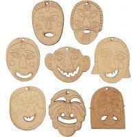 Maskers, afm 5,5-7 cm, dikte 4 mm, 24 stuk/ 1 doos