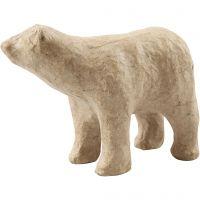 IJsbeer, H: 8,5 cm, L: 11,5 cm, 1 stuk