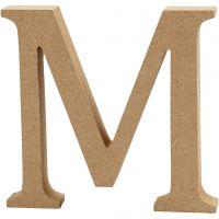 Letter, M, H: 8 cm, dikte 1,5 cm, 1 stuk