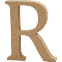 Letter, R, H: 8 cm, dikte 1,5 cm, 1 stuk