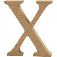 Letter, X, H: 8 cm, dikte 1,5 cm, 1 stuk