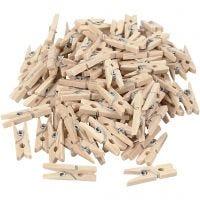 Wasknijpers, L: 25 mm, B: 3 mm, 100 stuk/ 1 doos