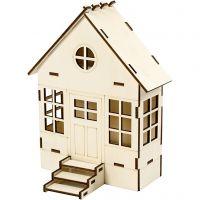 Huis, H: 24 cm, diepte 6(12,5) cm, B: 19 cm, 1 stuk