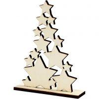 Kerstboom, H: 19,6 cm, diepte 4 cm, B: 14,7 cm, 1 stuk