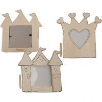 Fotolijst kroon / kasteel, afm 6,5x6,5x15 cm, 20 stuk/ 1 doos