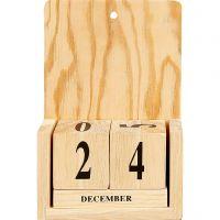 Kalender met datum , afm 13x5,5x19,2 cm, 1 set