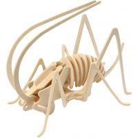 3D Houten constructie set, krekel, afm 22,5x15x18 cm, 1 stuk