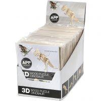3D Hout constructieset met APP, H: 11,5-22 cm, 48 stuk/ 1 doos