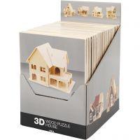 3D Houten constructie set, 24 stuk/ 1 doos