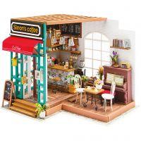 DIY Miniatuur kamer, Koffiehoek, H: 19 cm, L: 22,6 cm, B: 19,4 cm, 1 stuk