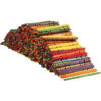 Constructiehoutjes, L: 11,4 cm, B: 10 mm, diverse kleuren, 1000 stuk/ 1 doos