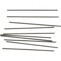 Metalen staaf, L: 10 cm, d: 2 mm, 10 stuk/ 1 doos