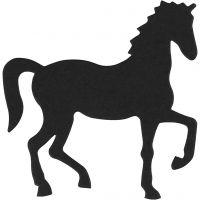 Label, paard, afm 60x64 mm, zwart, 10 stuk/ 1 doos