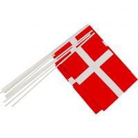 Vlaggen, afm 20x25 cm, 10 stuk/ 1 doos