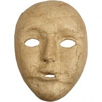 Volledig masker, H: 17,5 cm, B: 12,5 cm, 1 stuk