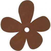 Bloem, afm 57x51 mm, bruin, 10 stuk/ 1 doos