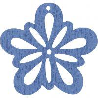 Bloem, d: 27 mm, lichtblauw, 20 stuk/ 1 doos