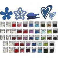 Houten decoraties, Inhoud kan variëren , diverse kleuren, 50 doos/ 1 doos