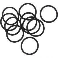 Haarelastiek, d: 45 mm, zwart, 10 stuk/ 1 doos