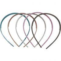 Haarbanden, B: 10 mm, 10 div/ 1 doos