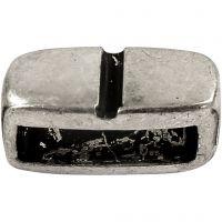 Spacer kraal, afm 6x14 mm, gatgrootte 10x3 mm, antiek zilver, 5 stuk/ 1 doos