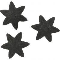 Kraalkapje, d: 10 mm, zwart, 10 stuk/ 1 doos